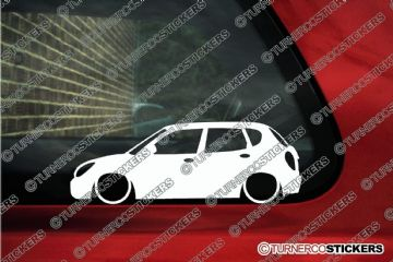 2x Low car outline stickers - Daihatsu Storia / Sirion GTvi